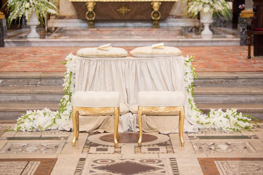 Matrimonio allestimento chiesa