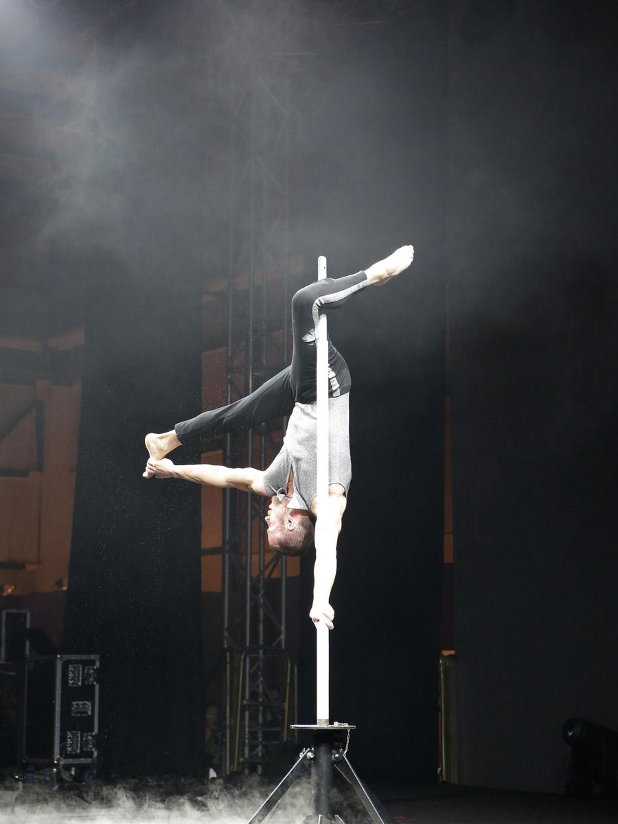 Spettacoli con acrobati